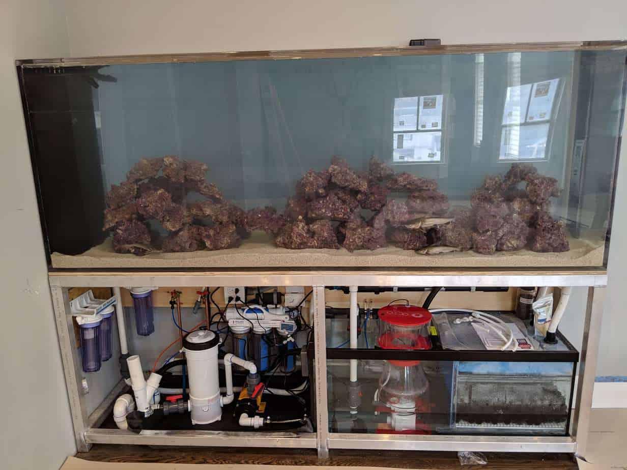 360 gallon aquarium filled up
